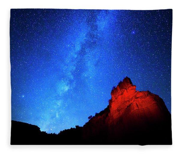 Milky Way And Caprock Fleece Blanket