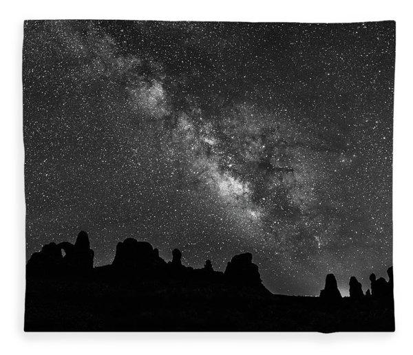 Milky Way At The Windows Fleece Blanket