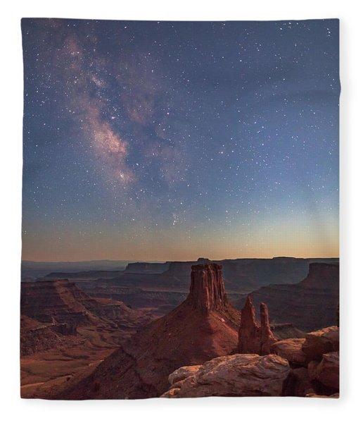 Milky Way At Twilight - Marlboro Point Fleece Blanket