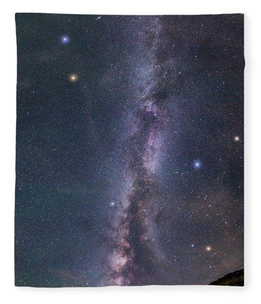 Milky Way Magic Fleece Blanket