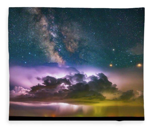 Milky Way Monsoon Fleece Blanket