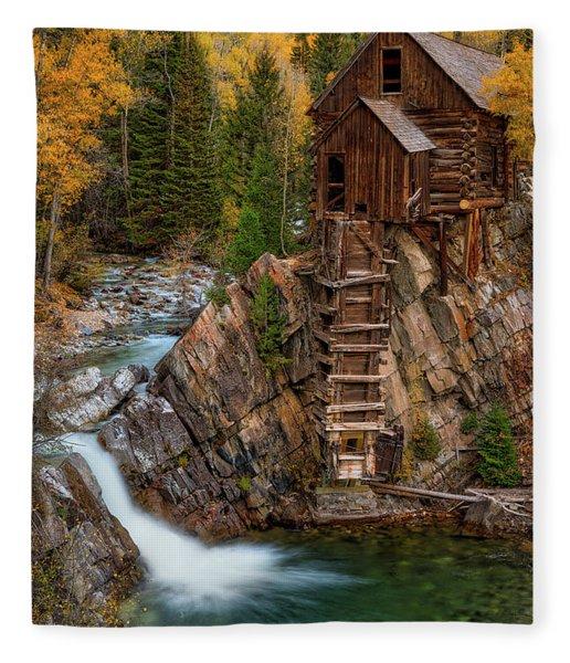 Mill In The Mountains Fleece Blanket