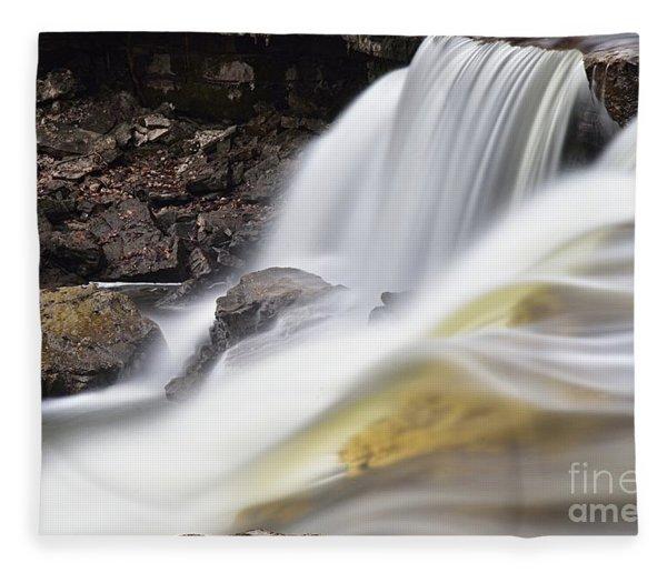 Minneopa Falls Closeup Fleece Blanket