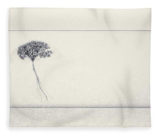 Miracle Of A Single Flower Fleece Blanket
