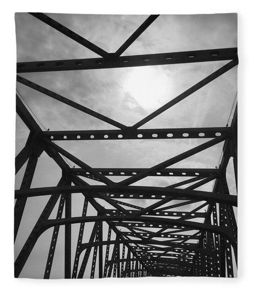 Mississippi River Bridge Fleece Blanket
