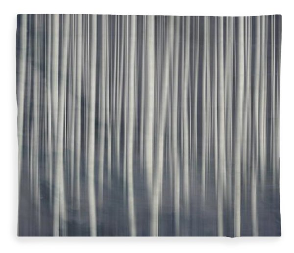 Misty Birch Forest  Fleece Blanket