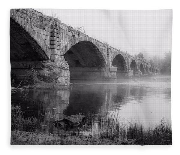 Misty Bridge Fleece Blanket