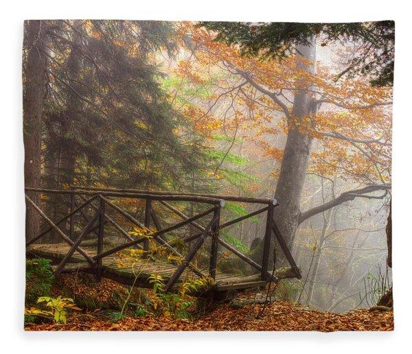 Misty Forest Fleece Blanket