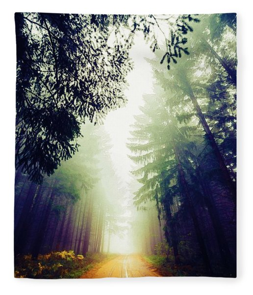 Misty Road Fleece Blanket