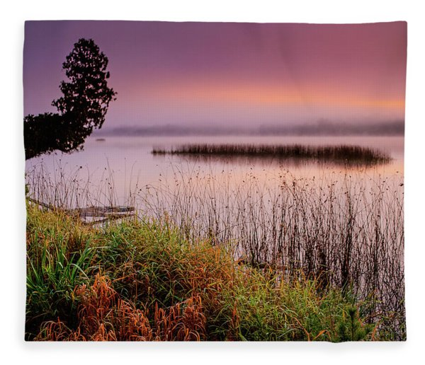 Misty Sunrise Fleece Blanket