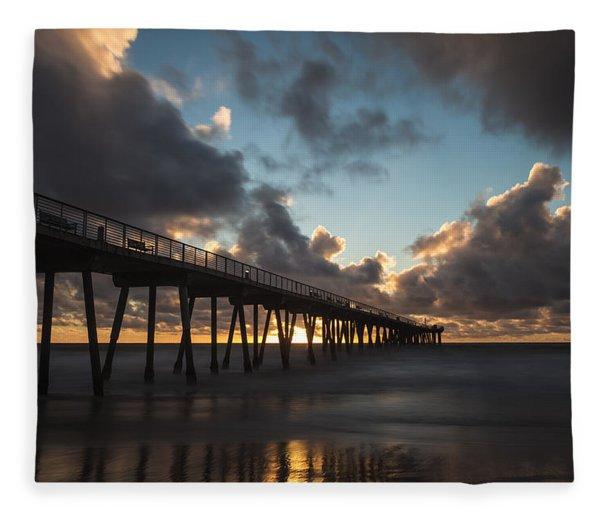 Misty Sunset Fleece Blanket