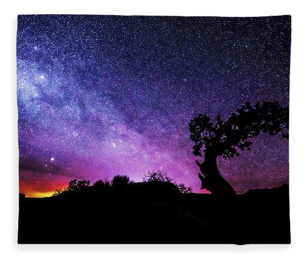 Moab Skies Fleece Blanket