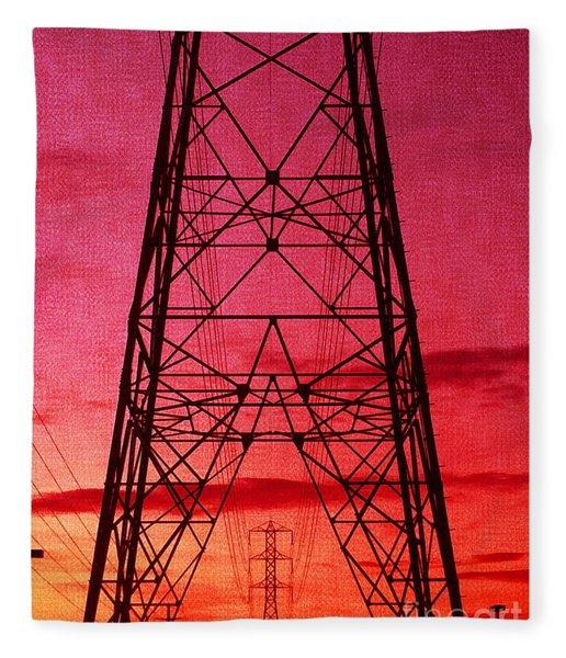 Modern Sunset Fleece Blanket