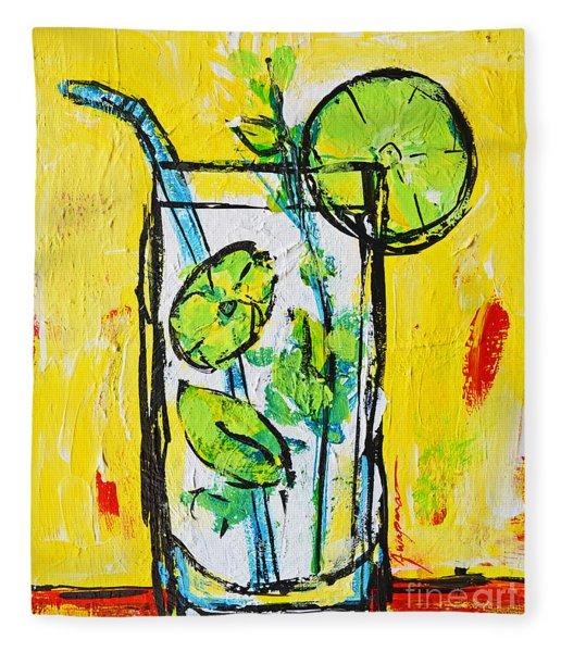 Mojito - Latin Tropical Drink Modern Art Fleece Blanket