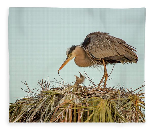 Mom And Chick Fleece Blanket