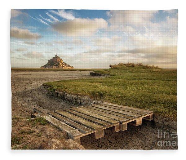 Mont Saint-michel's Bay Fleece Blanket