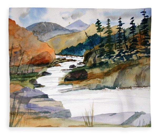 Montana Canyon Fleece Blanket