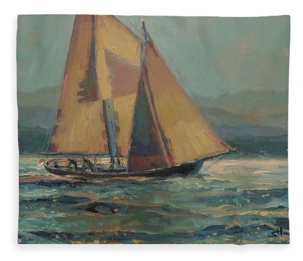 Moonlight Sail Fleece Blanket