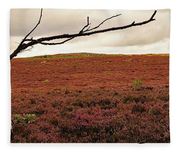 Moorland Heather Fleece Blanket