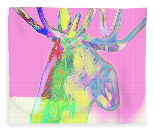 Moosemerized Fleece Blanket
