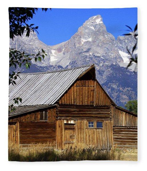 Mormon Row Barn  1 Fleece Blanket
