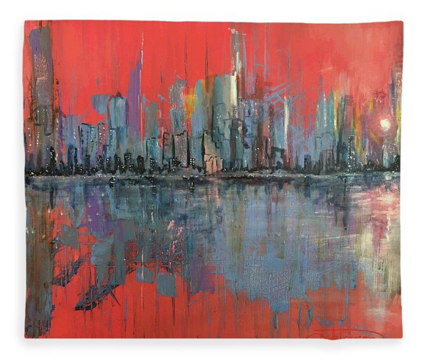 Morning Reflects Illusion Fleece Blanket