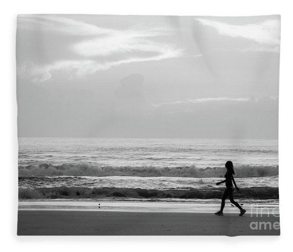 Morning Walk Fleece Blanket