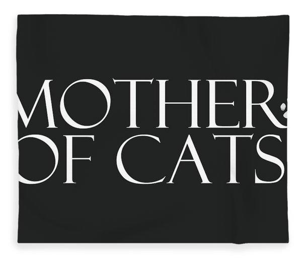 Mother Of Cats- By Linda Woods Fleece Blanket