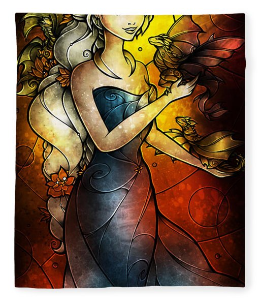 Mother Of Dragons Fleece Blanket