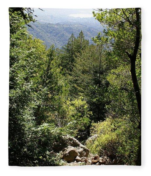 Mount Tamalpais Forest View Fleece Blanket