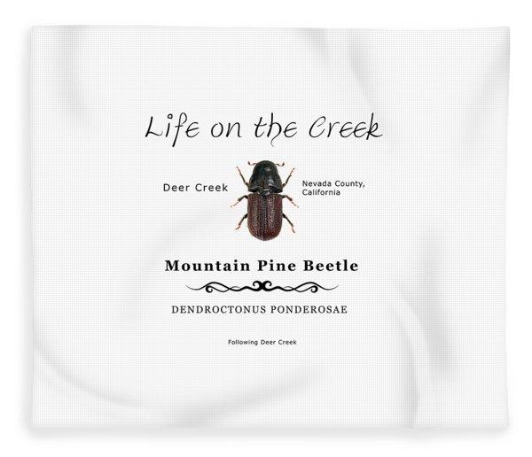 Mountain Pine Beetle Color Fleece Blanket
