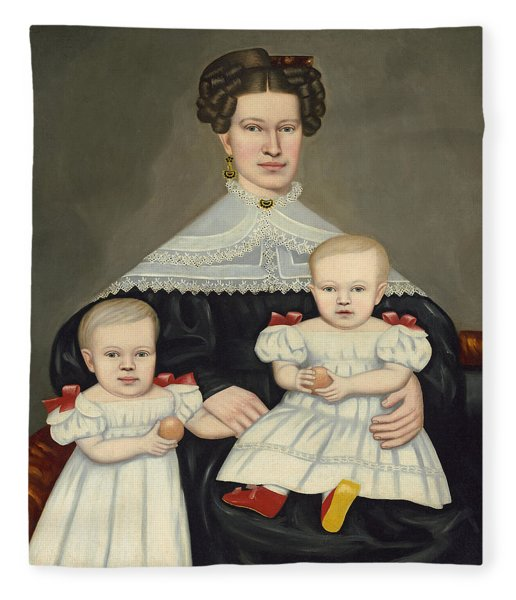 Mrs Paul Smith Palmer And Her Twins Fleece Blanket