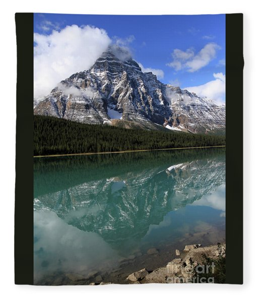 Mt Refection Fleece Blanket