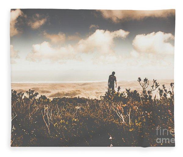 Mt Zeehan Backpacker  Fleece Blanket
