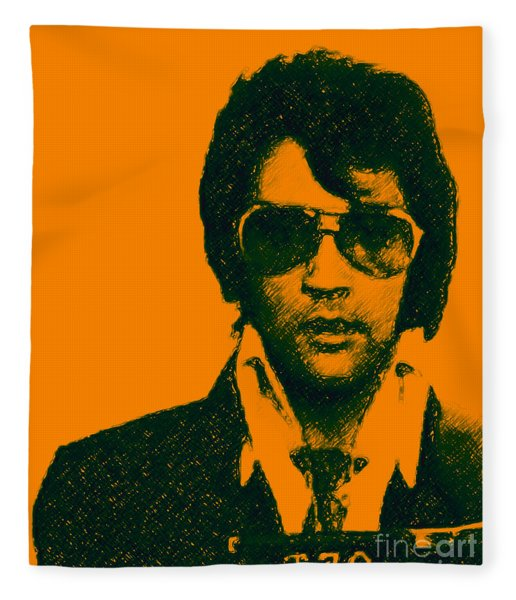 Mugshot Elvis Presley Fleece Blanket