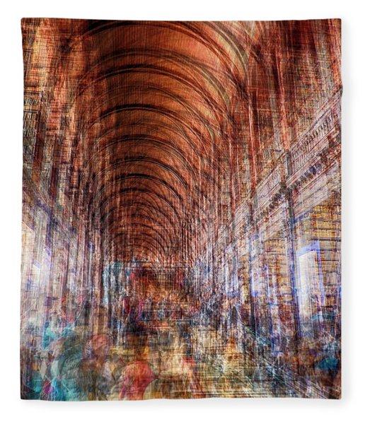 multiple exposure of Dublin public library  Fleece Blanket