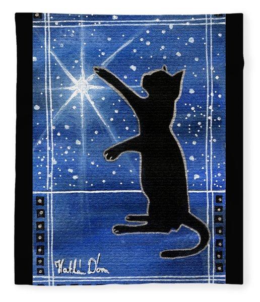 My Shinning Star - Christmas Cat Fleece Blanket