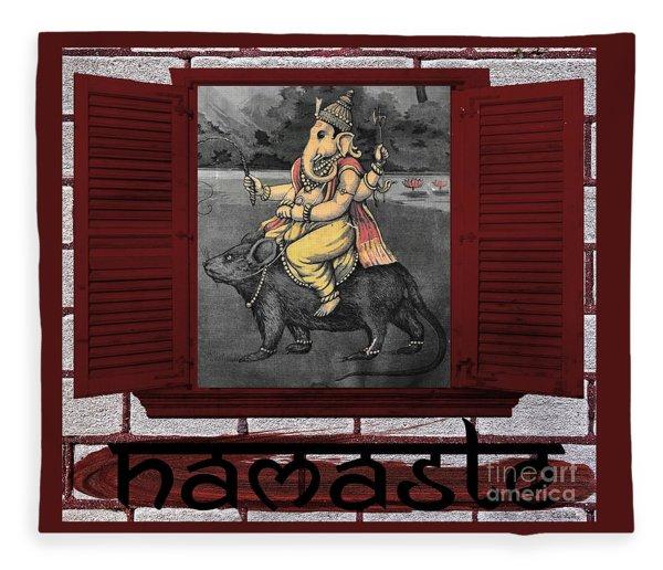 Namaste Ganapati Fleece Blanket