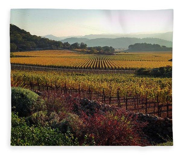 Napa Valley California Fleece Blanket