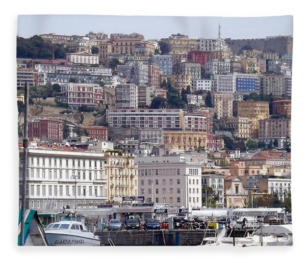 Naples In The Spring Fleece Blanket