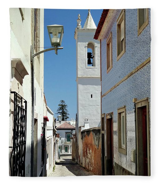 Fleece Blanket featuring the photograph Narrow Street In Tavira - Portugal by Barry O Carroll