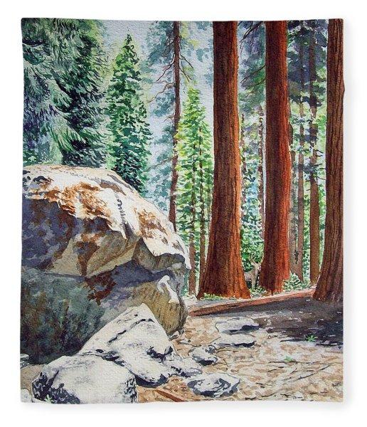 National Park Sequoia Fleece Blanket