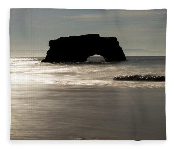 Natural Bridges State Beach Water Fleece Blanket