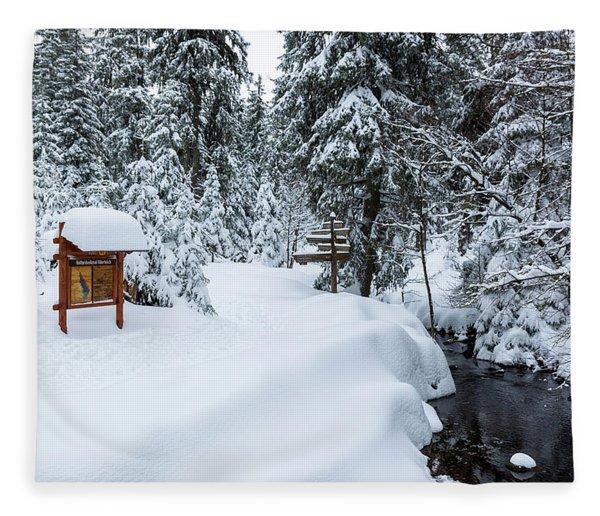 Natural Monument Oderteich, Harz Fleece Blanket
