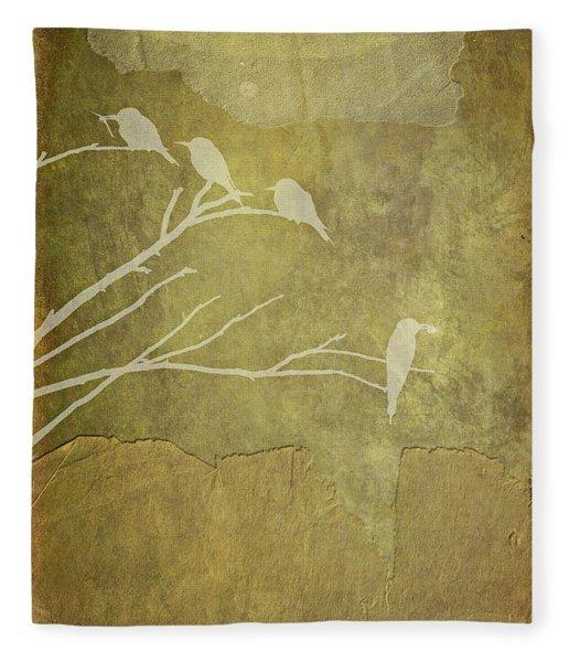 Nature Study In Gold  Fleece Blanket