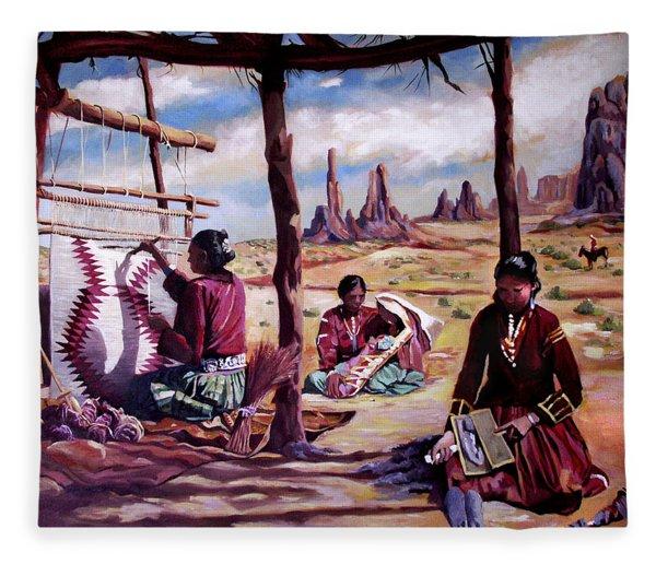 Navajo Weavers Fleece Blanket
