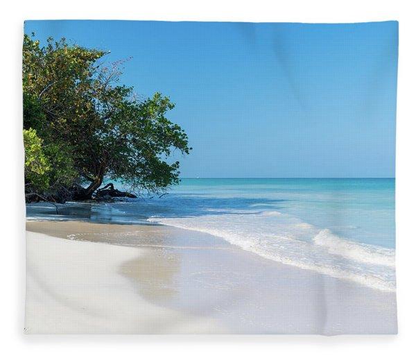 Negril Beach Morning Fleece Blanket