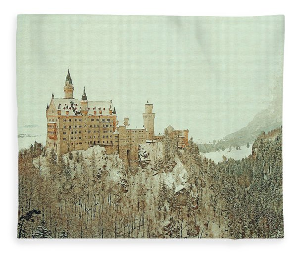 Neuschwanstein Castle Germany Fleece Blanket