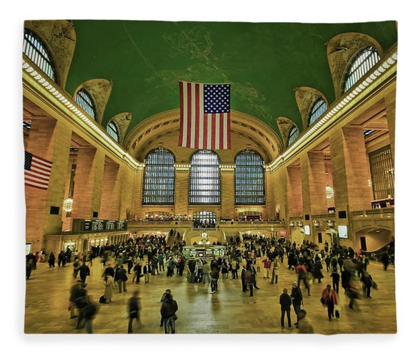 New York Minute Fleece Blanket