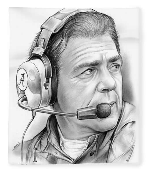 Nick Saban Fleece Blanket